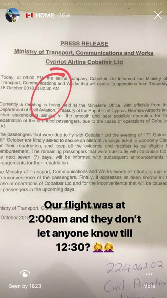 Airline Bankrupt