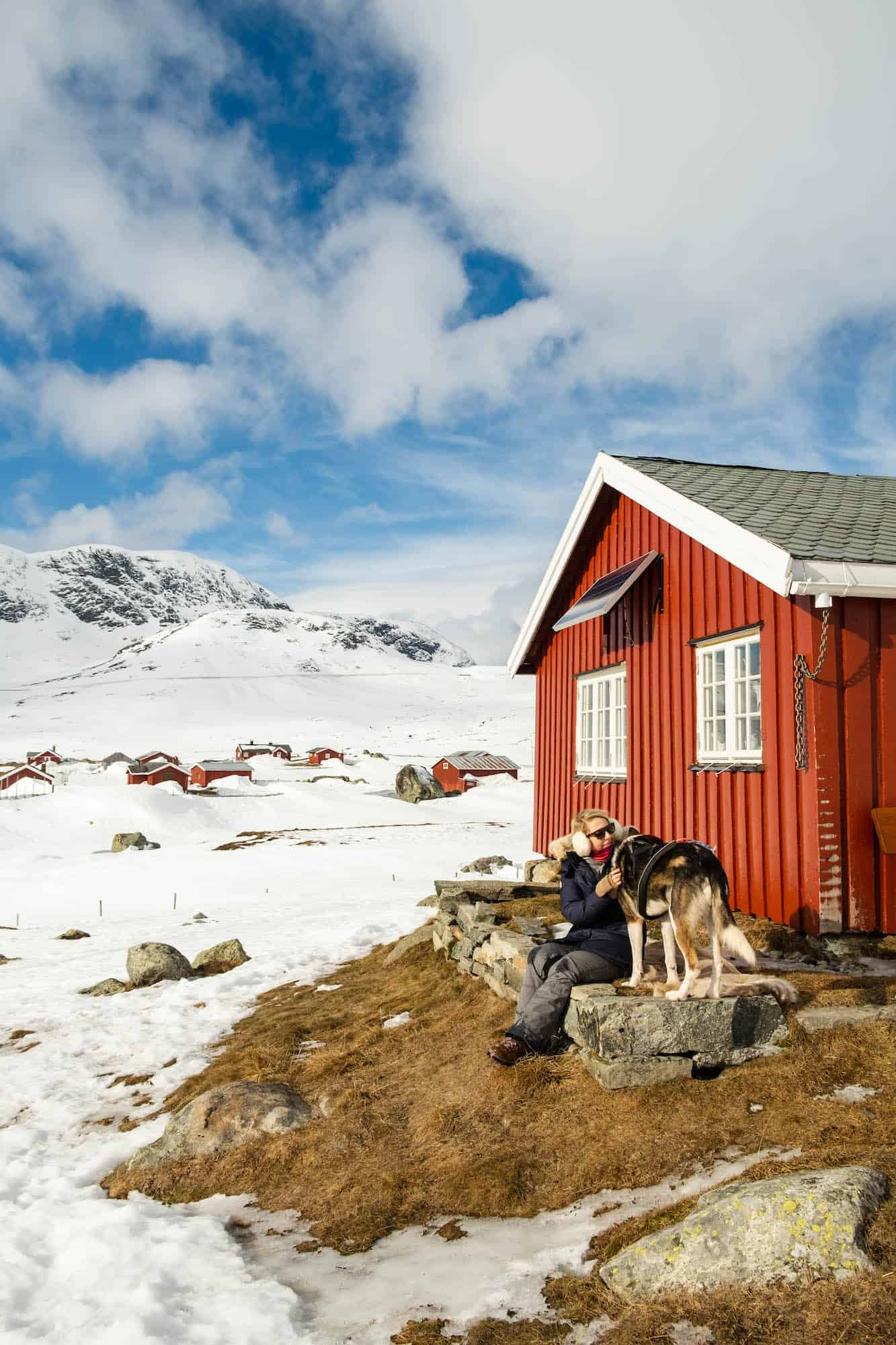 Cabin — Dog Sled — Winter in Norway