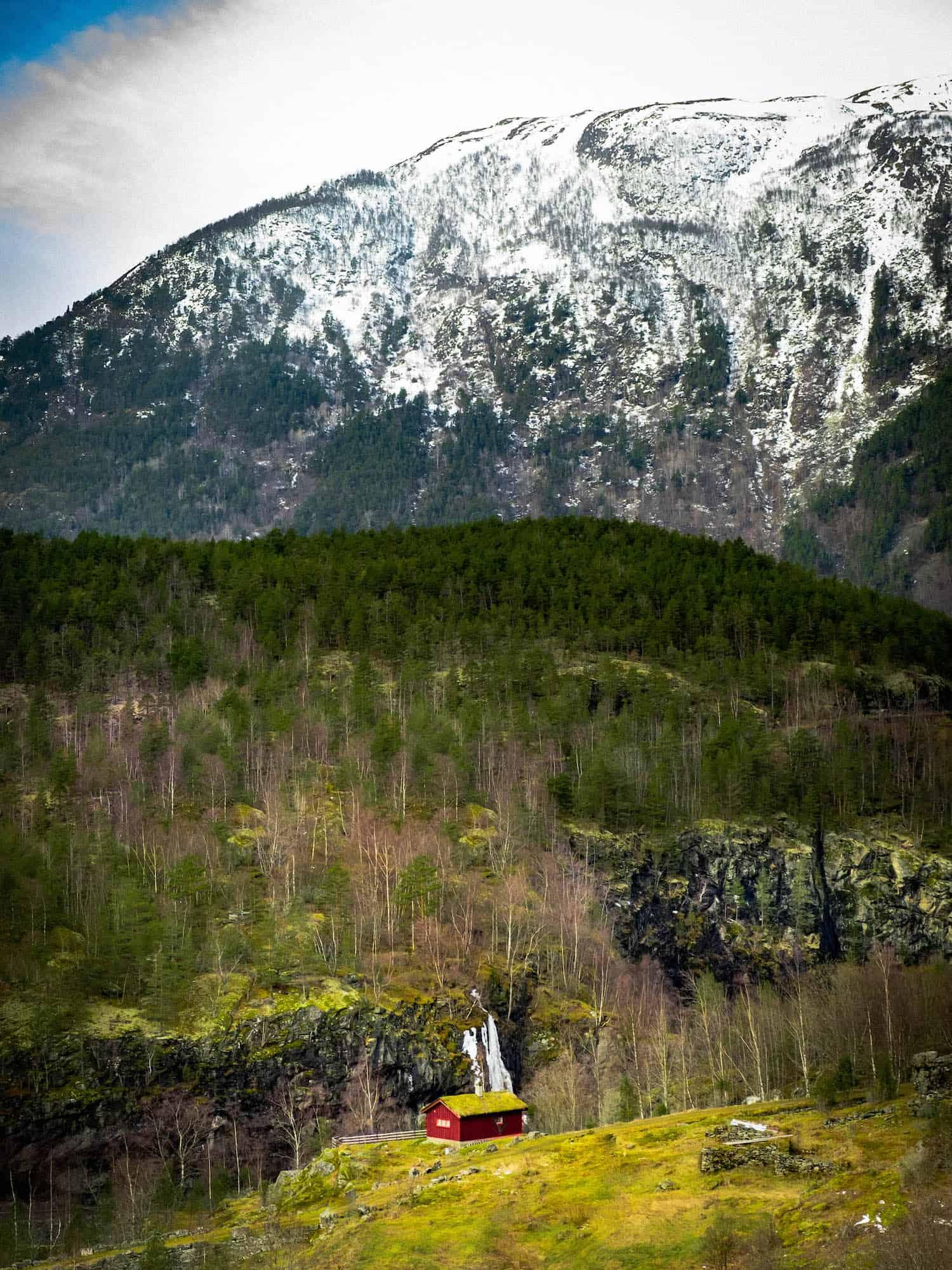 Cabin — King's Highway — Winter in Norway