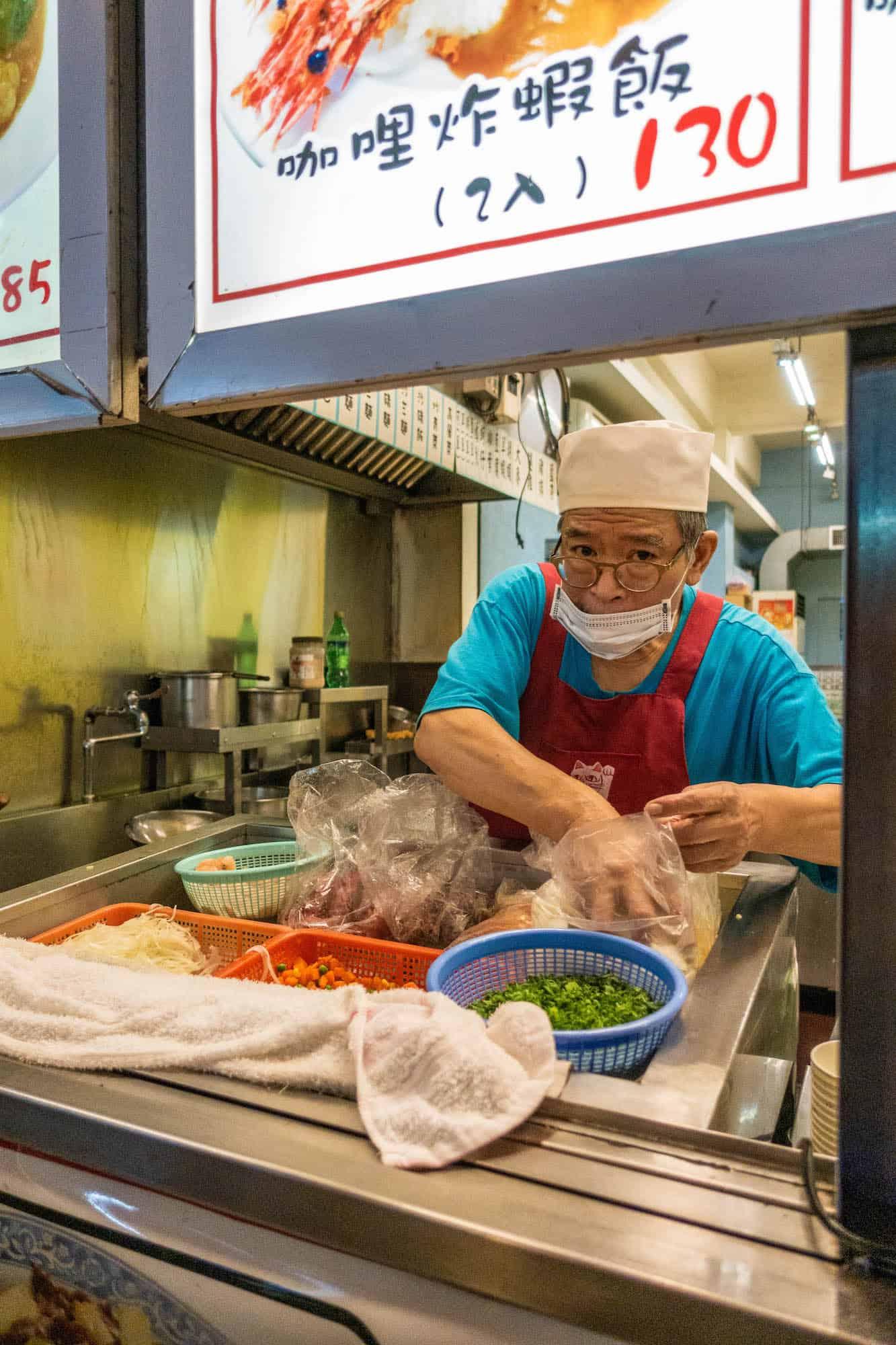 Taiwan Travel - Night Market - Cook