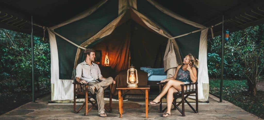 Cameron and Natasha on safari in Kenya