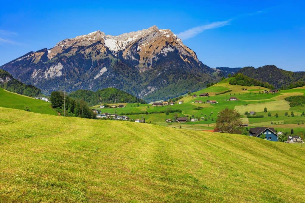 Hiking in Switzerland - Alpine Meadow Mount Pilatus