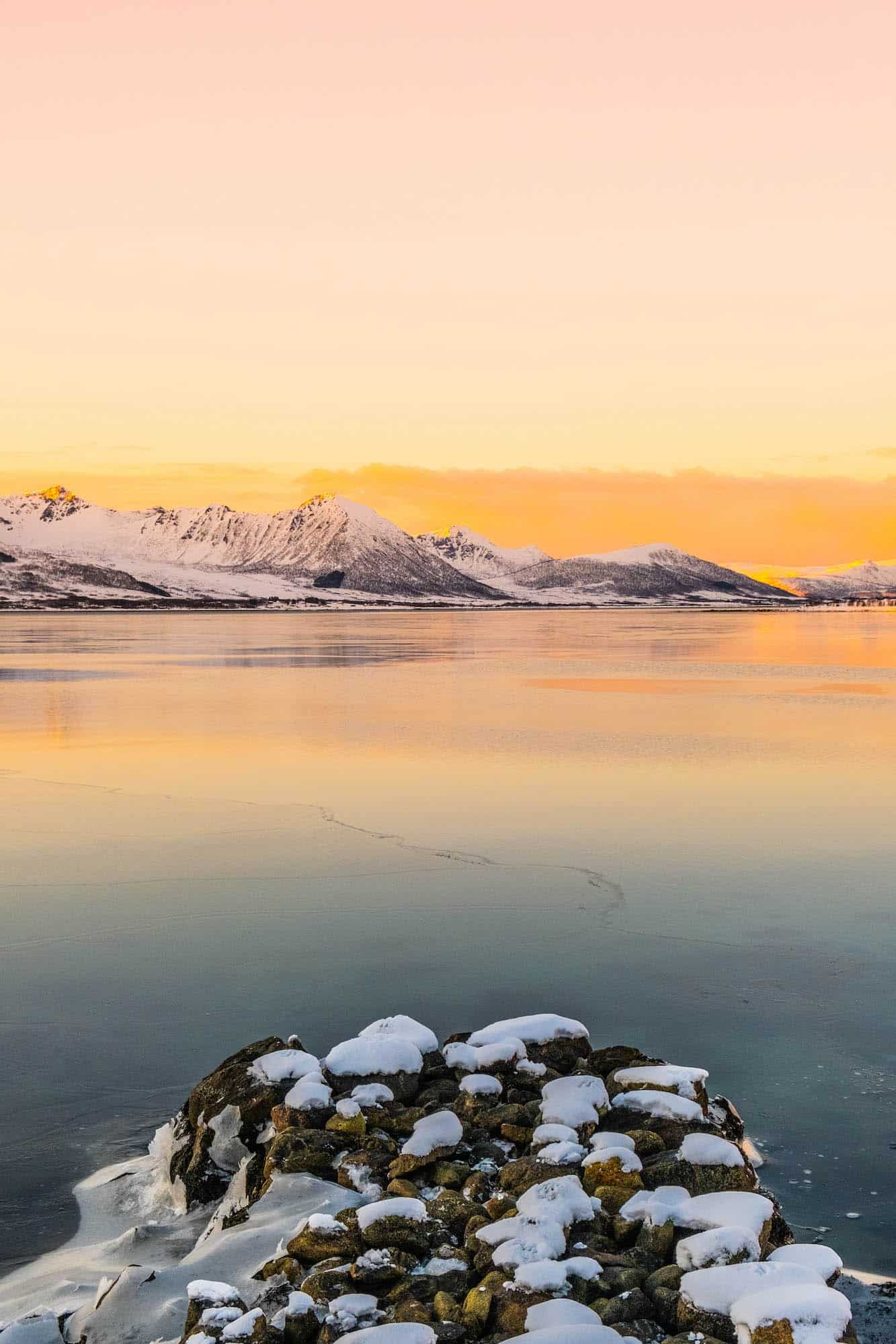 Winter in Norway — Sunset