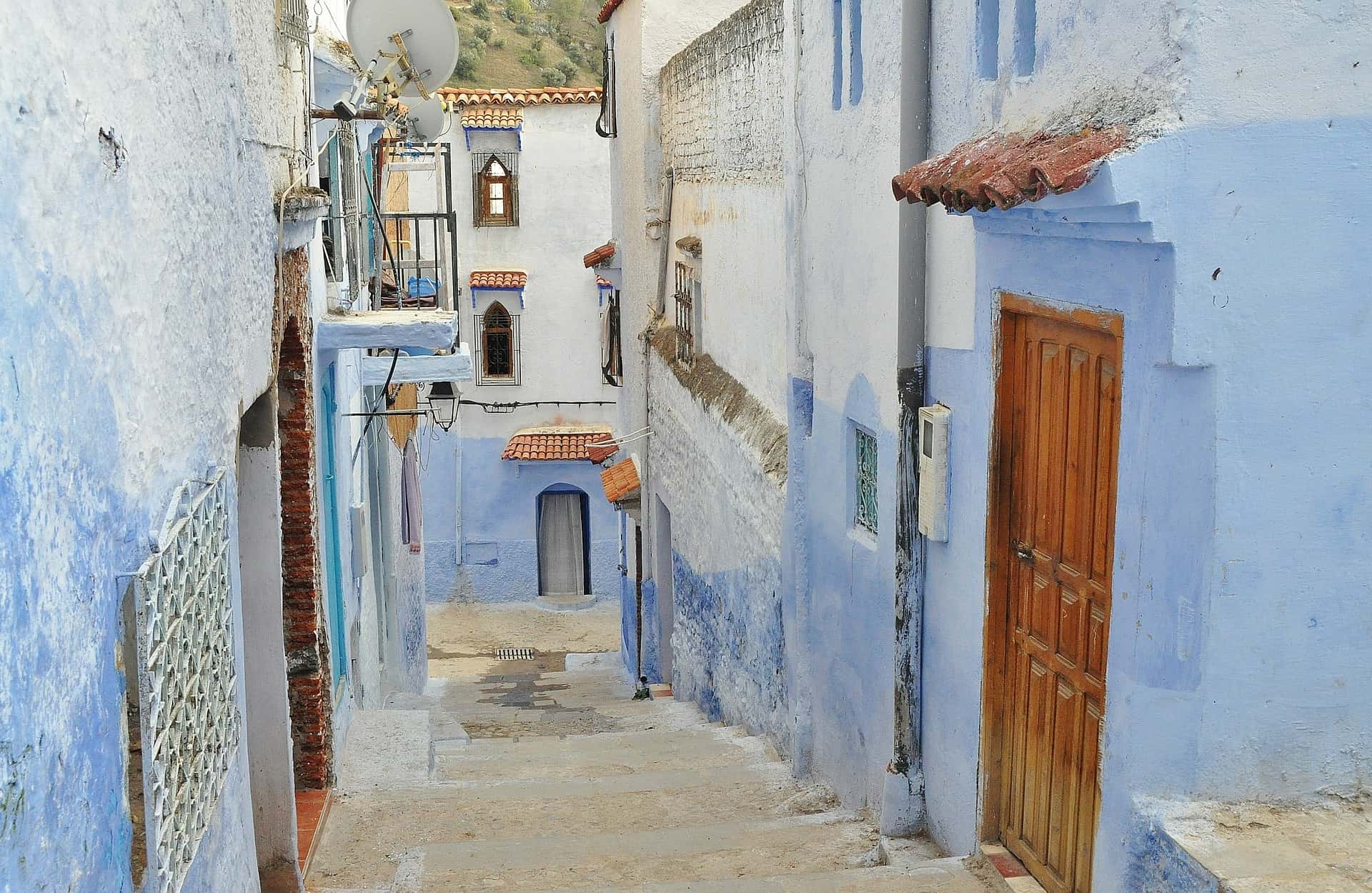Chefchaouen Morocco Blue City Alley 2