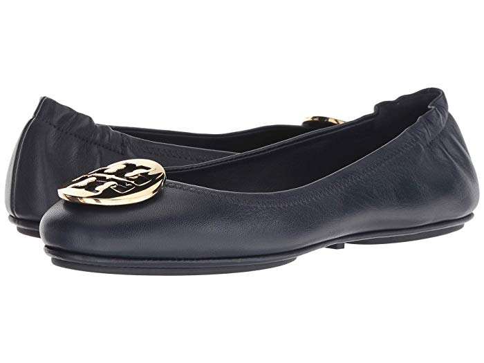 Comfortable Flats For Women Tory Burch Black Leather