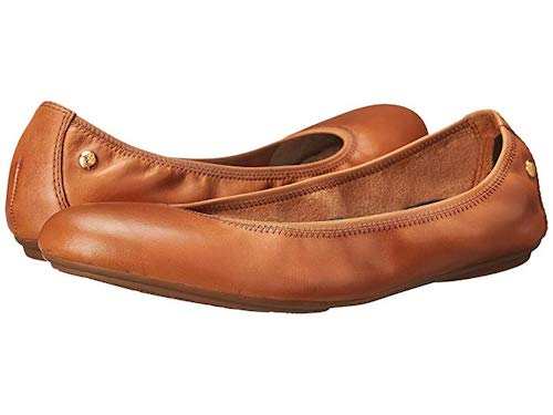 Comfortable Flats For Women Travel Hugh Puppies Brown Leather