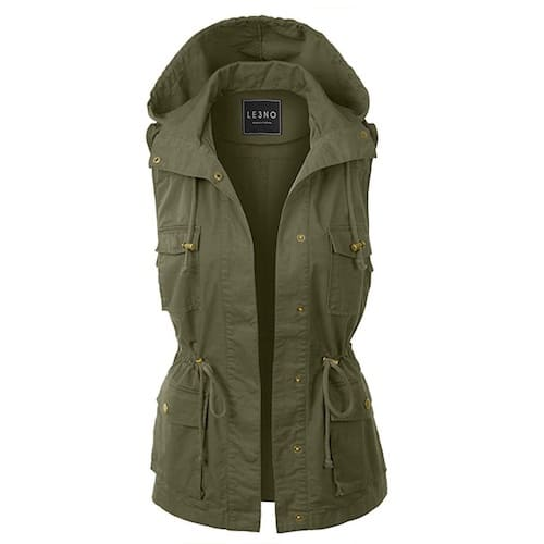 LE3NO Military Anorak Vest Safari Clothes