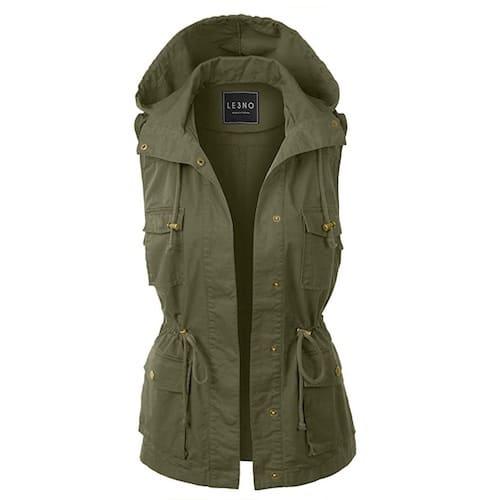 LE3NO Military Anorak Vest Safari Clothes