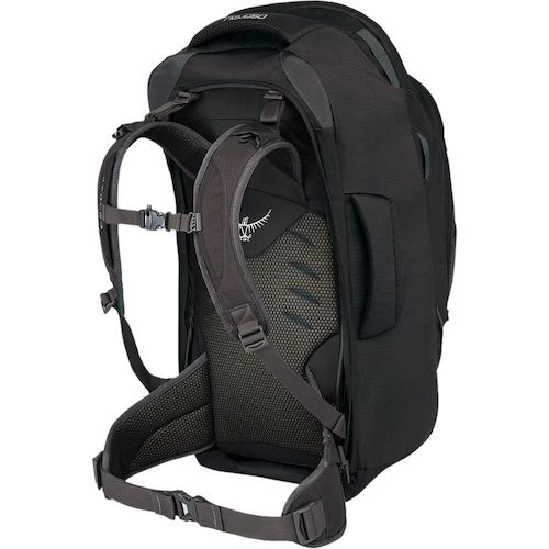 The Suspension System on the Osprey Farpoint Backpack