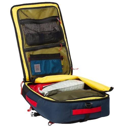 The interior of Topo Designs Backpack