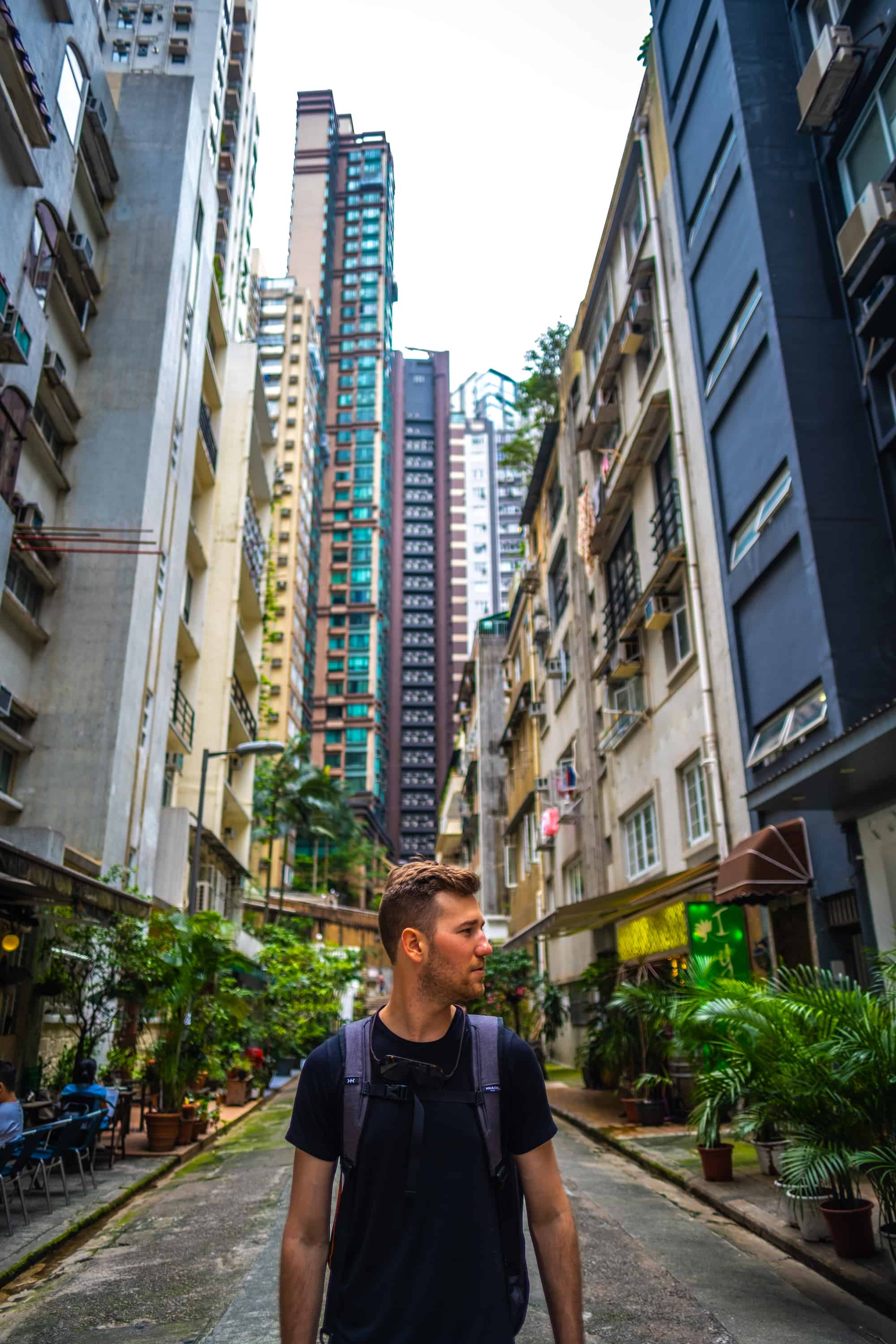 Cameron with the Knack Pack in Hong Kong