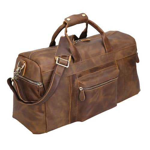Polare Genuine Leather Weekender Safari Duffel Safari Bag