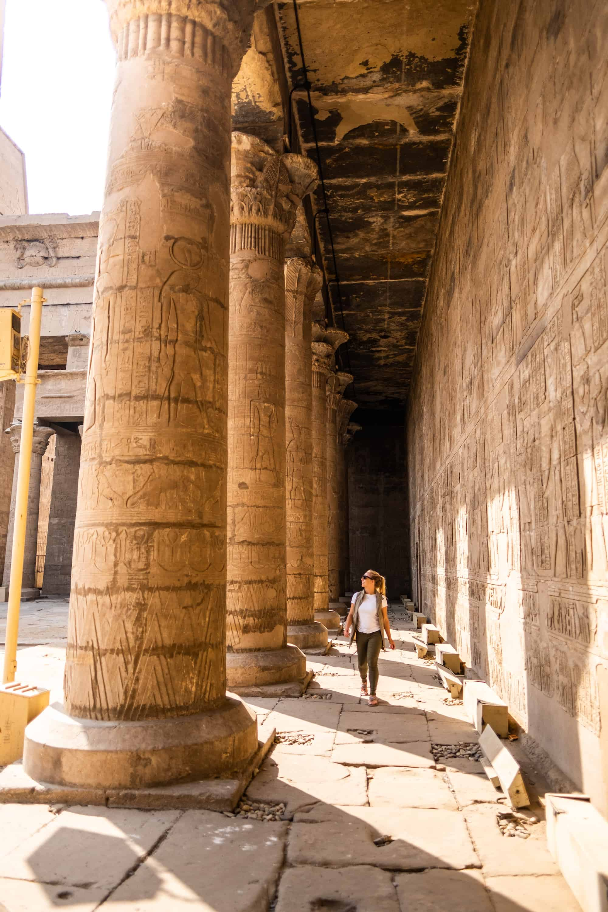 Avoiding the heat in an Egyptian Temple