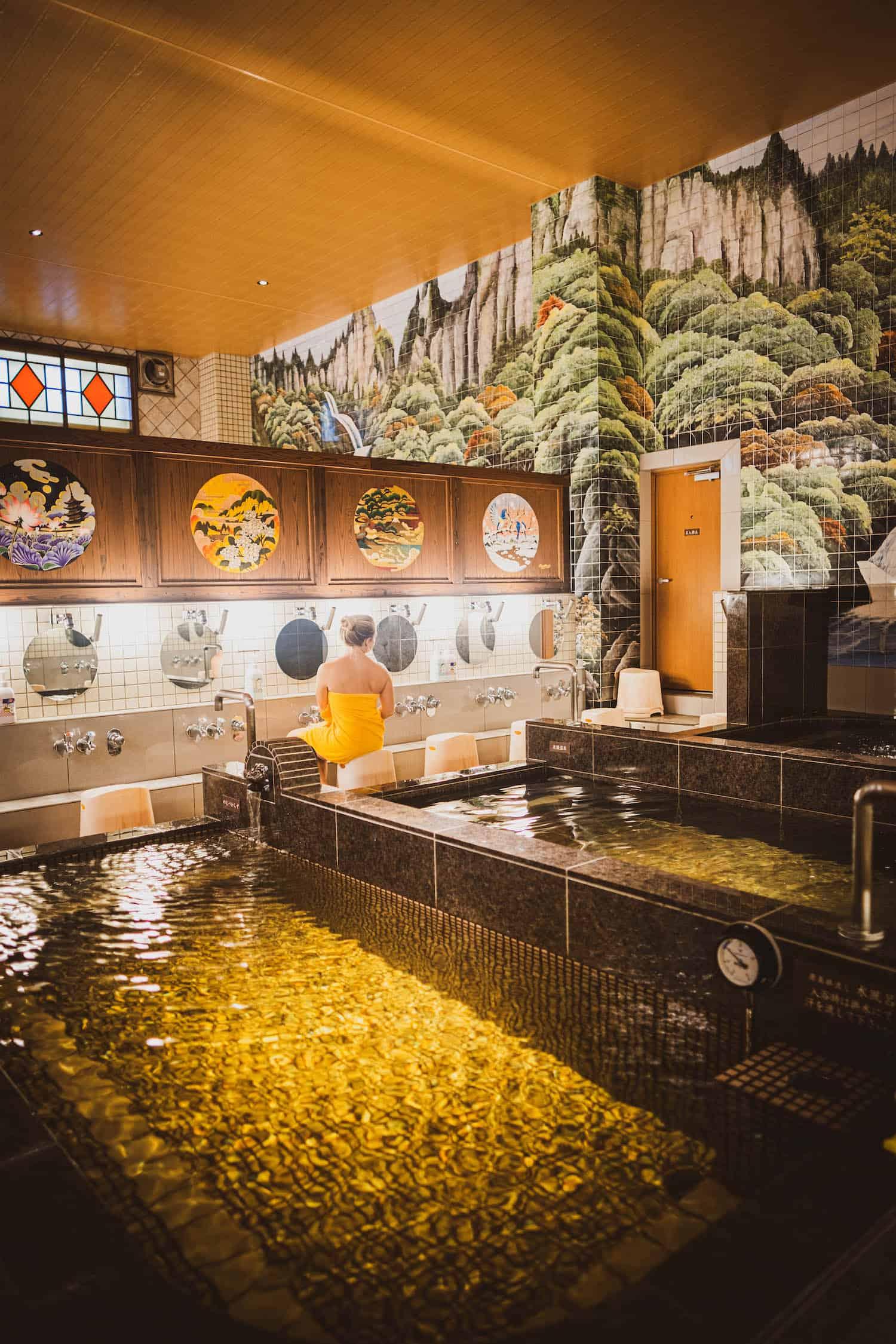 Inside Japanese Sento Hasunuma Onsen
