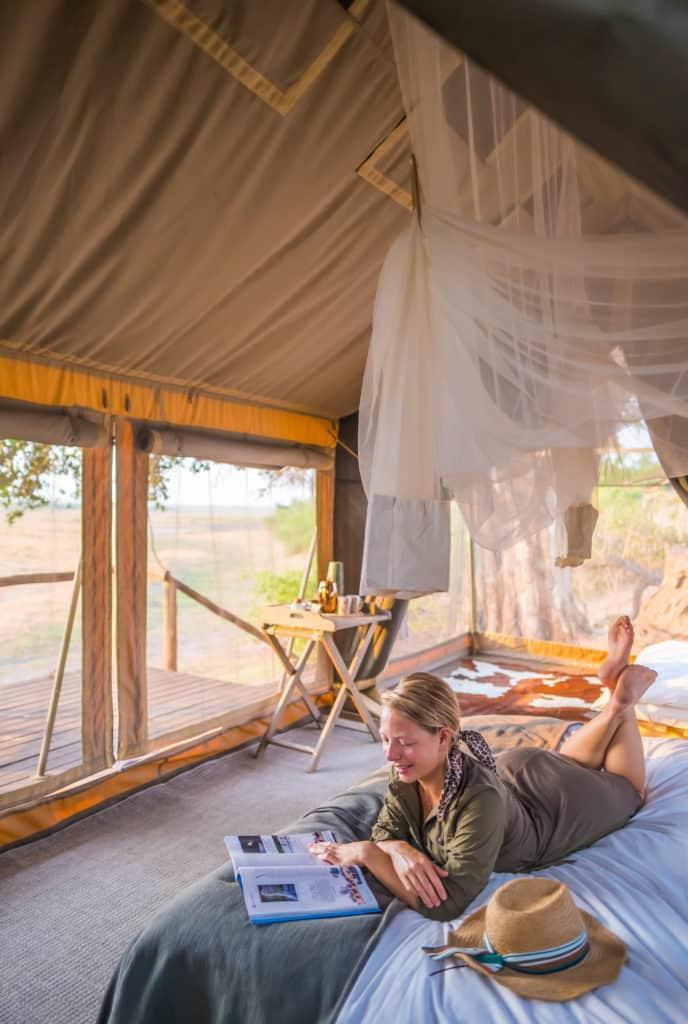 Resting in Botswana