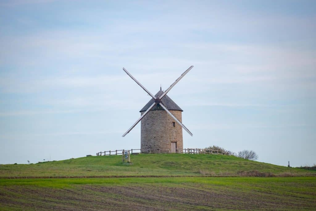 Mont Saint Michel Surrounding Area Windmill