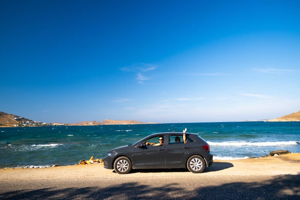 renting a car in paros