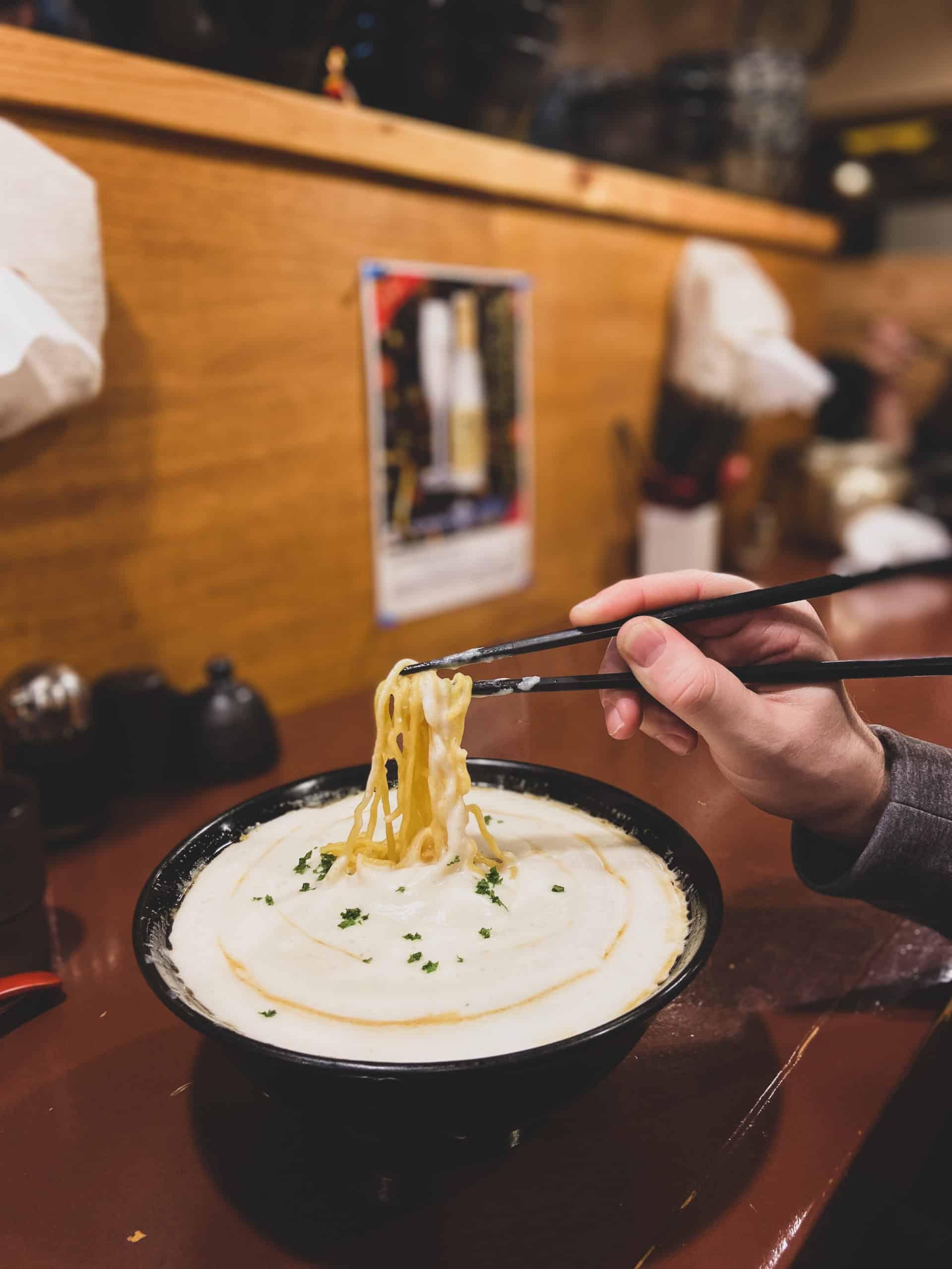 The potato ramen topped Niseko Ramen