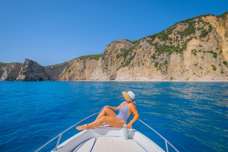 renting a boat on corfu
