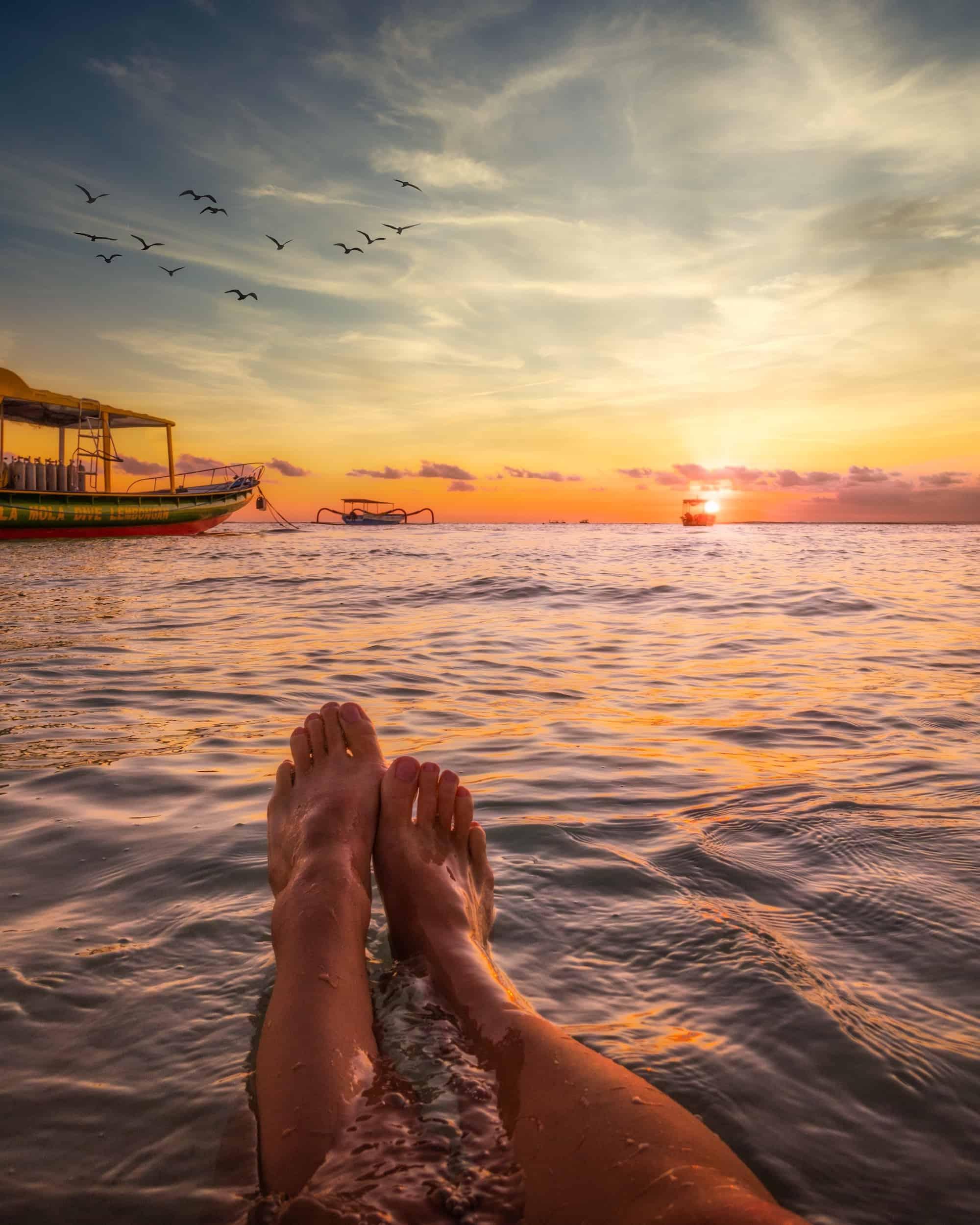 Bali sunset captions