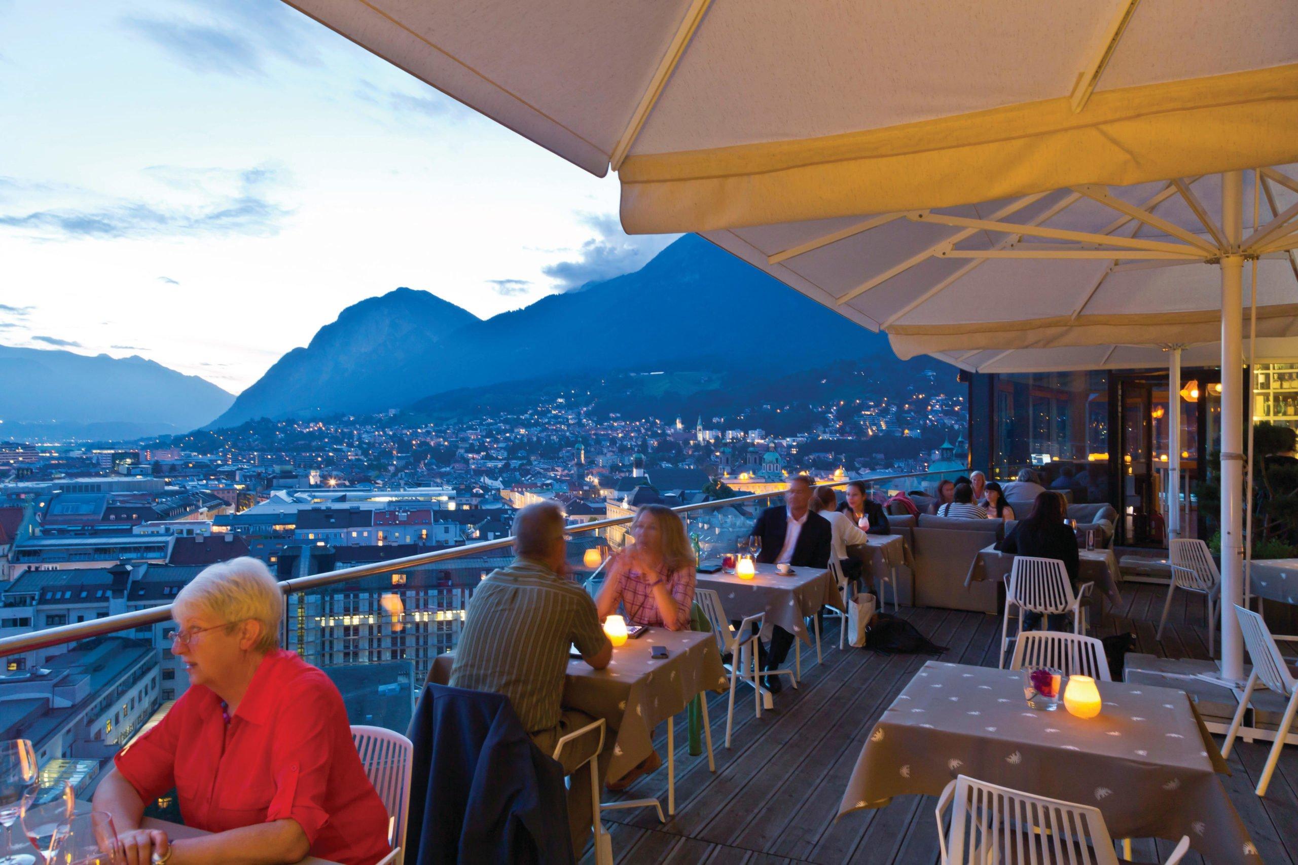 Adler's Hotel Bar View of Innsbruck