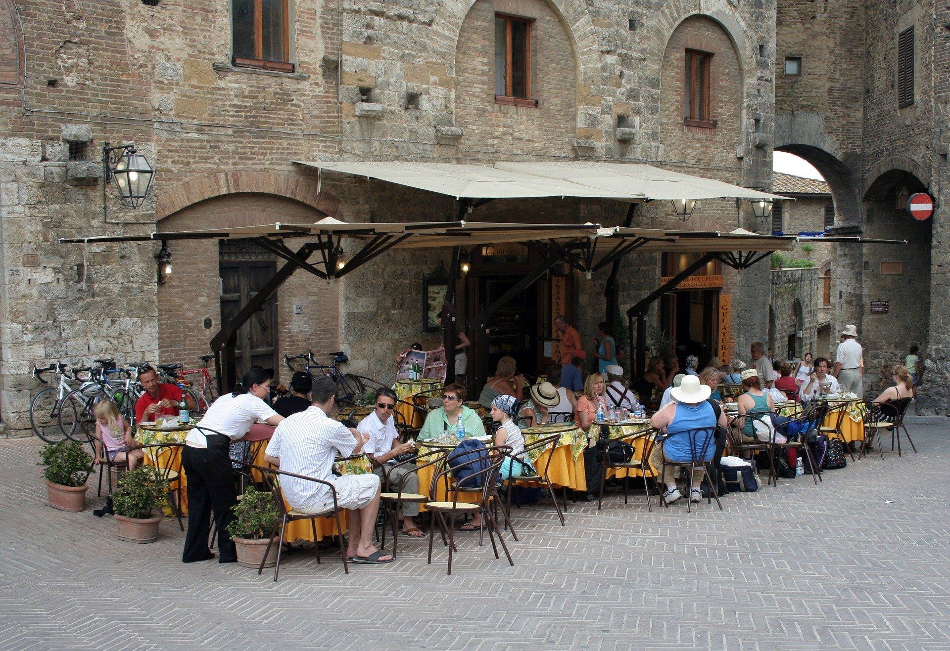 Server on Italian Street Restaurant