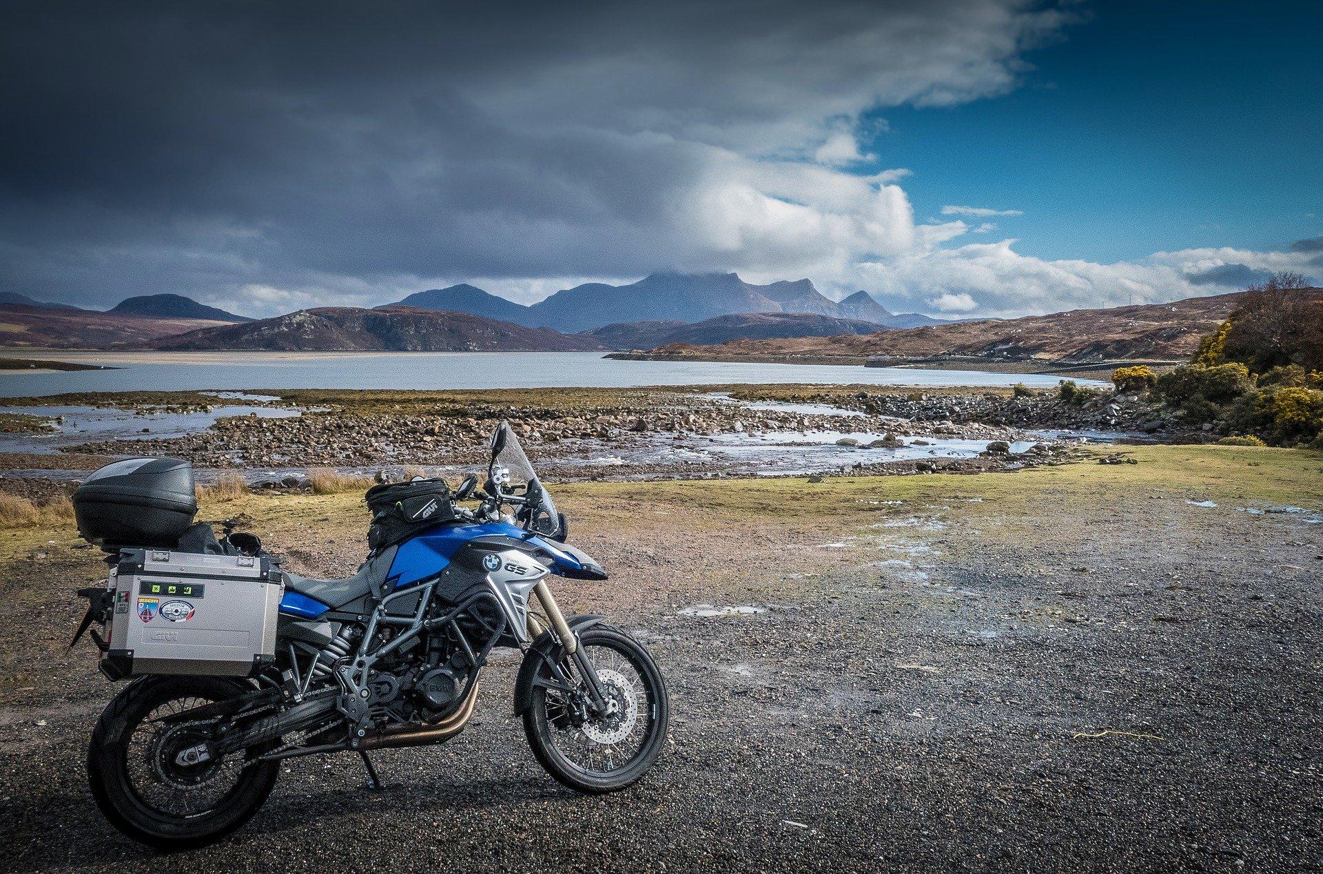 Motorcycle on North Coast 500