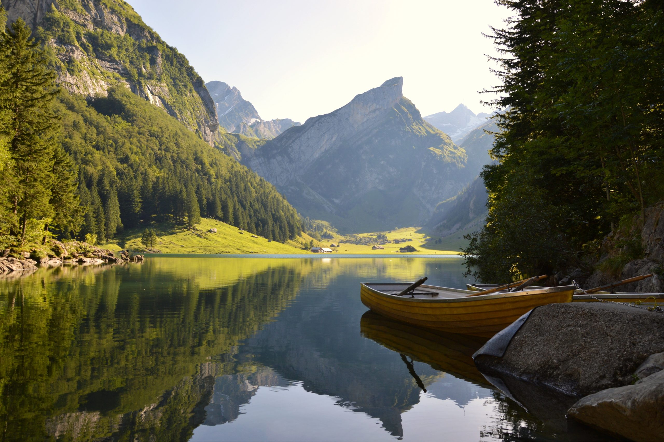 Switzerland Row Boat in Summer