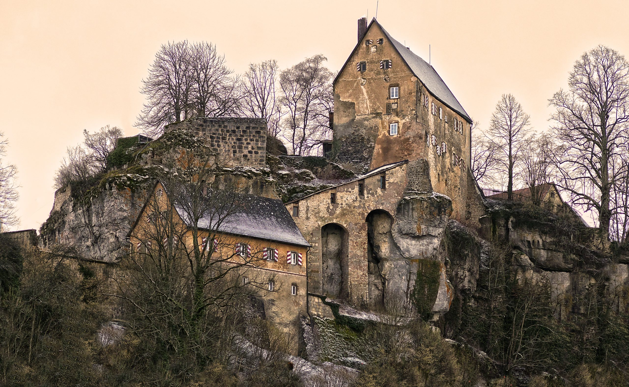 Swiss Castle in Late Fall