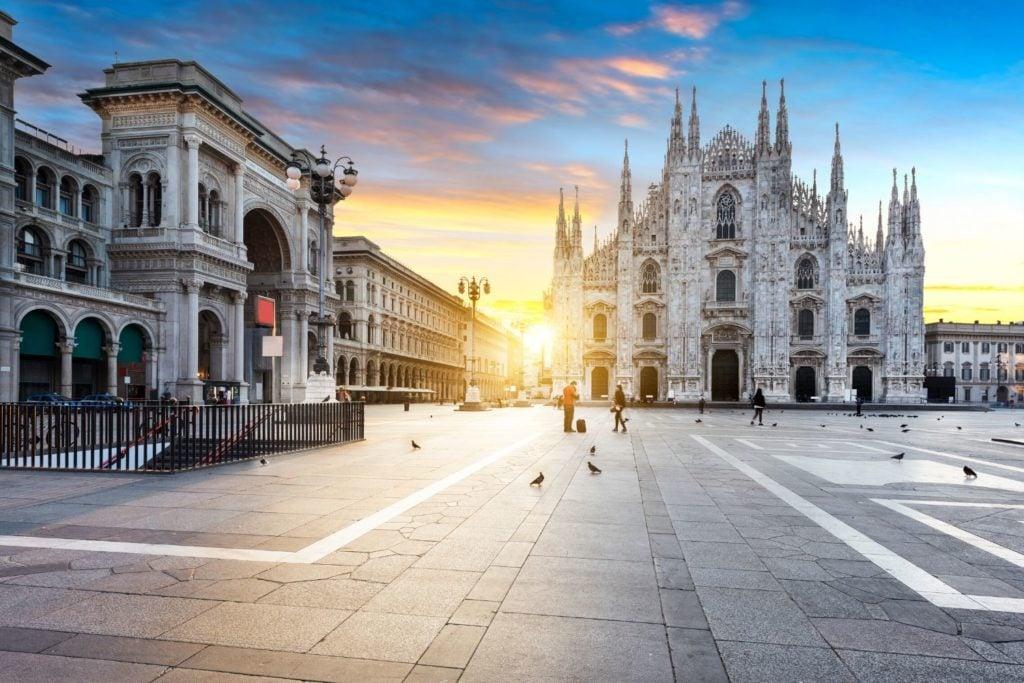 Duomo De Milan at Sunrise