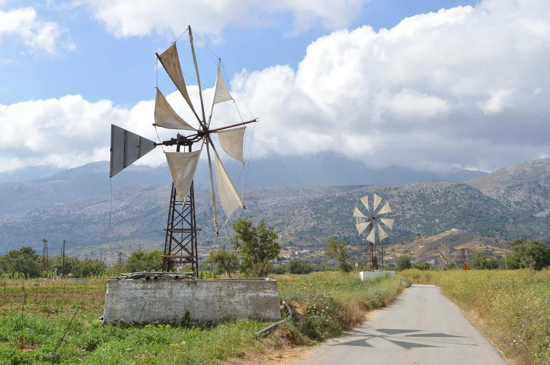 Lasithi Crete Windmills