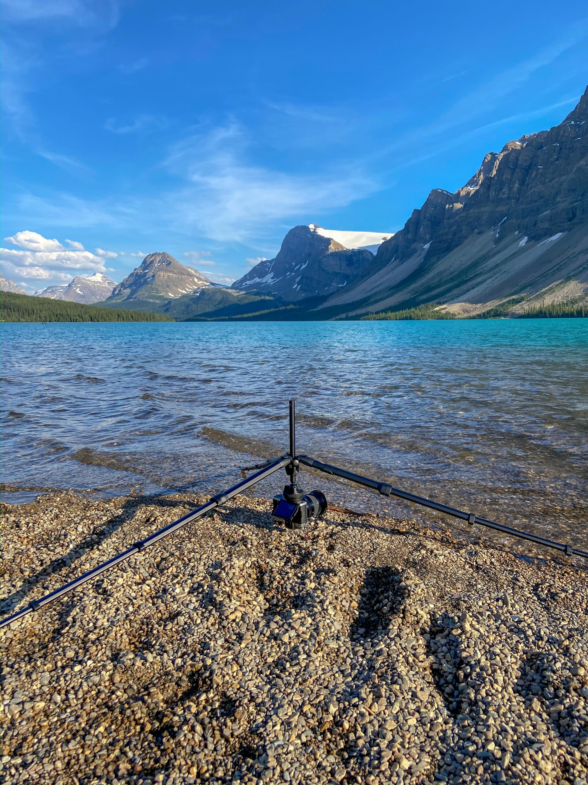 Peak Design Travel Tripod at bow Lake