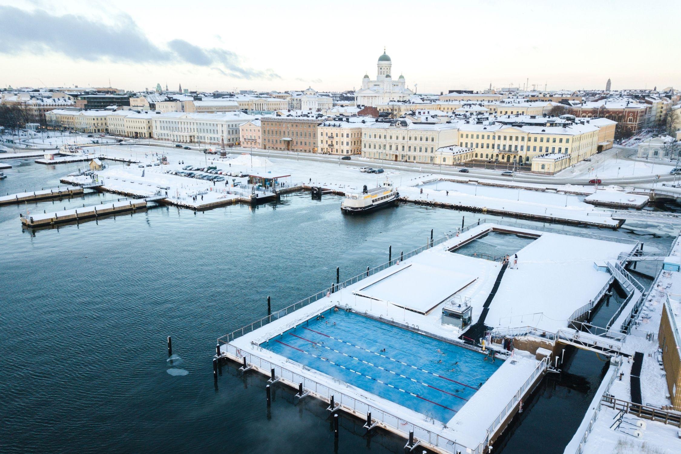 The Allas Sea Pool on the Helsinki Harbour