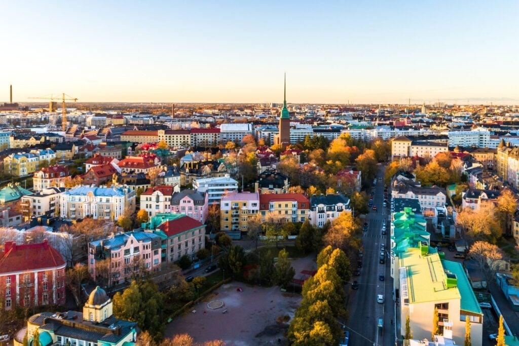 Aerial Photo of Helsinki