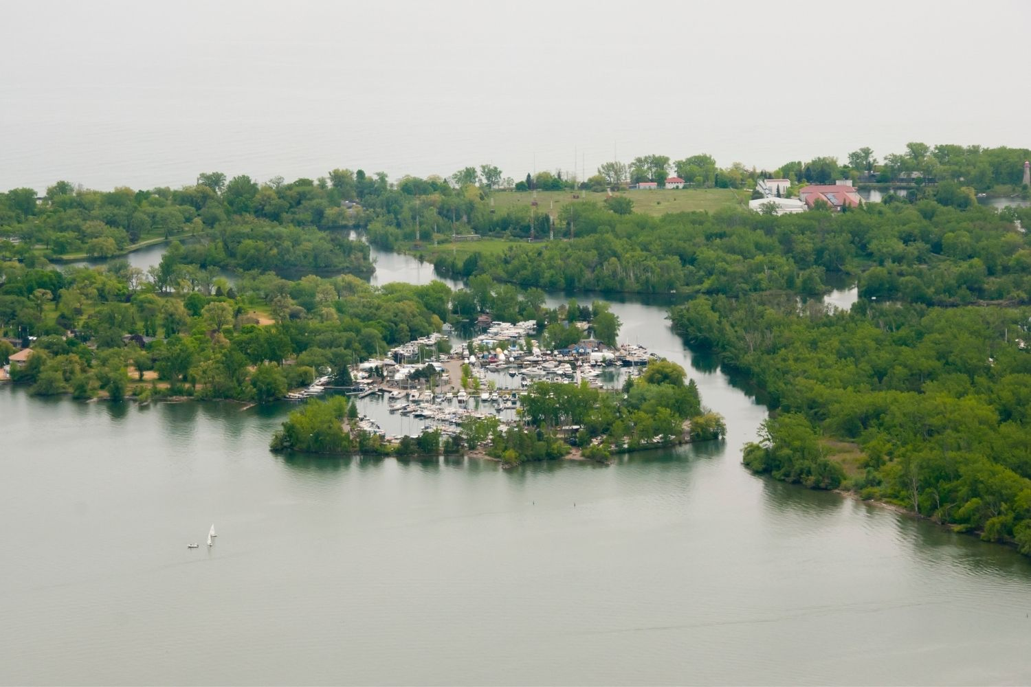 Toronto Islands From The Air