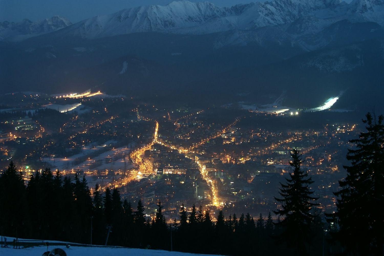 Zakopane Poland at Night