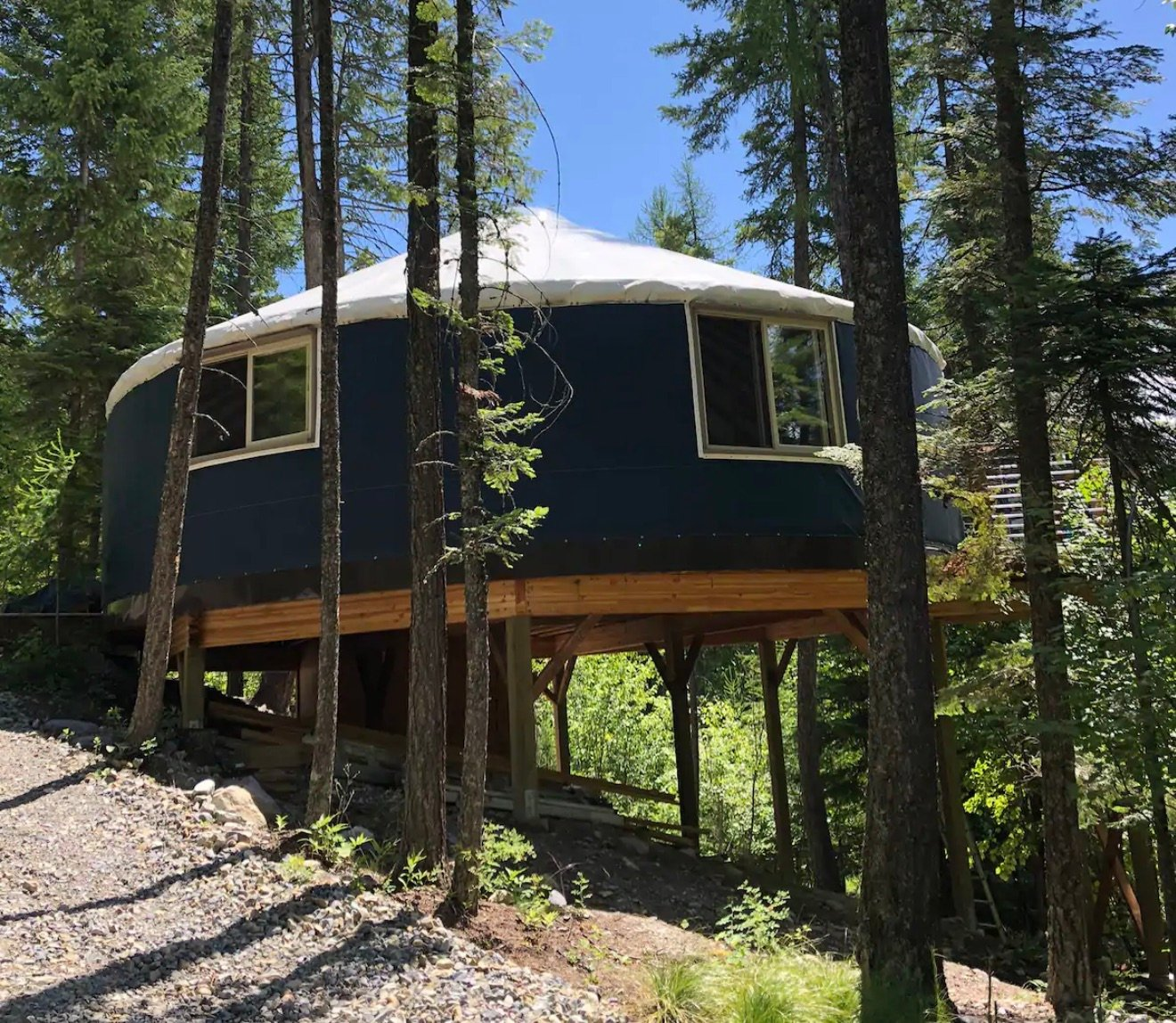Franklin's Tower — Yurt in Whitefish — Airbnbs in Whitefish