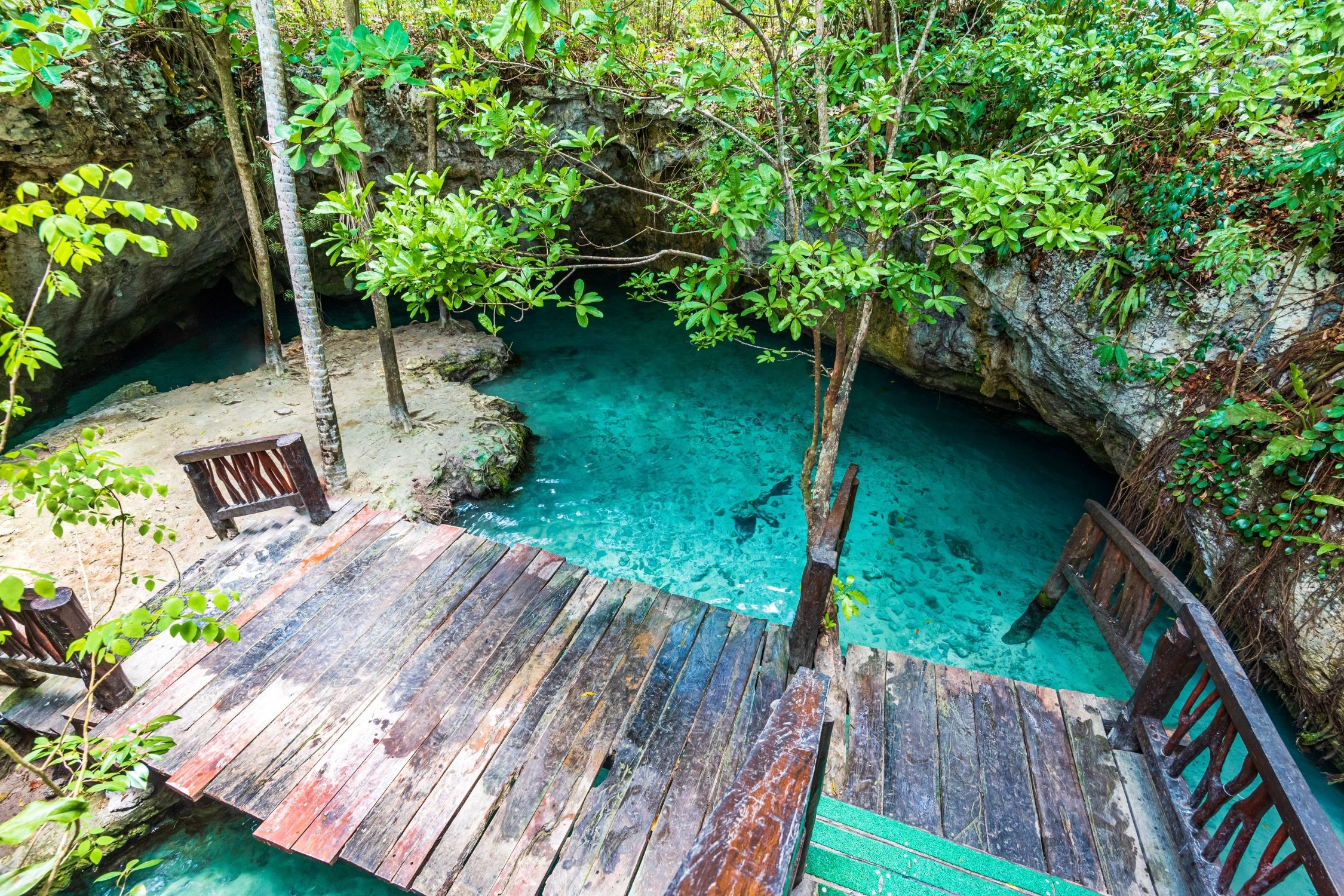 Hot weather in Tulum is the perfect time to visit a cenote
