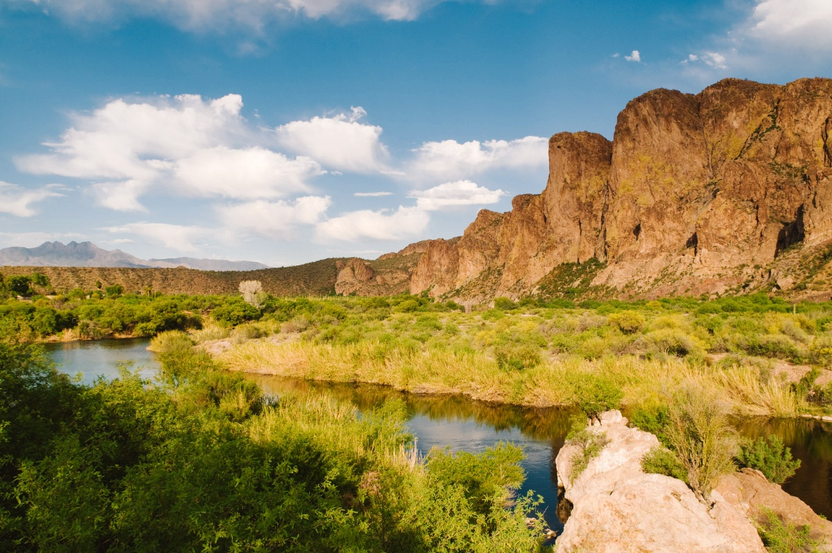Salt River in the outskirts of the Phoenix valley