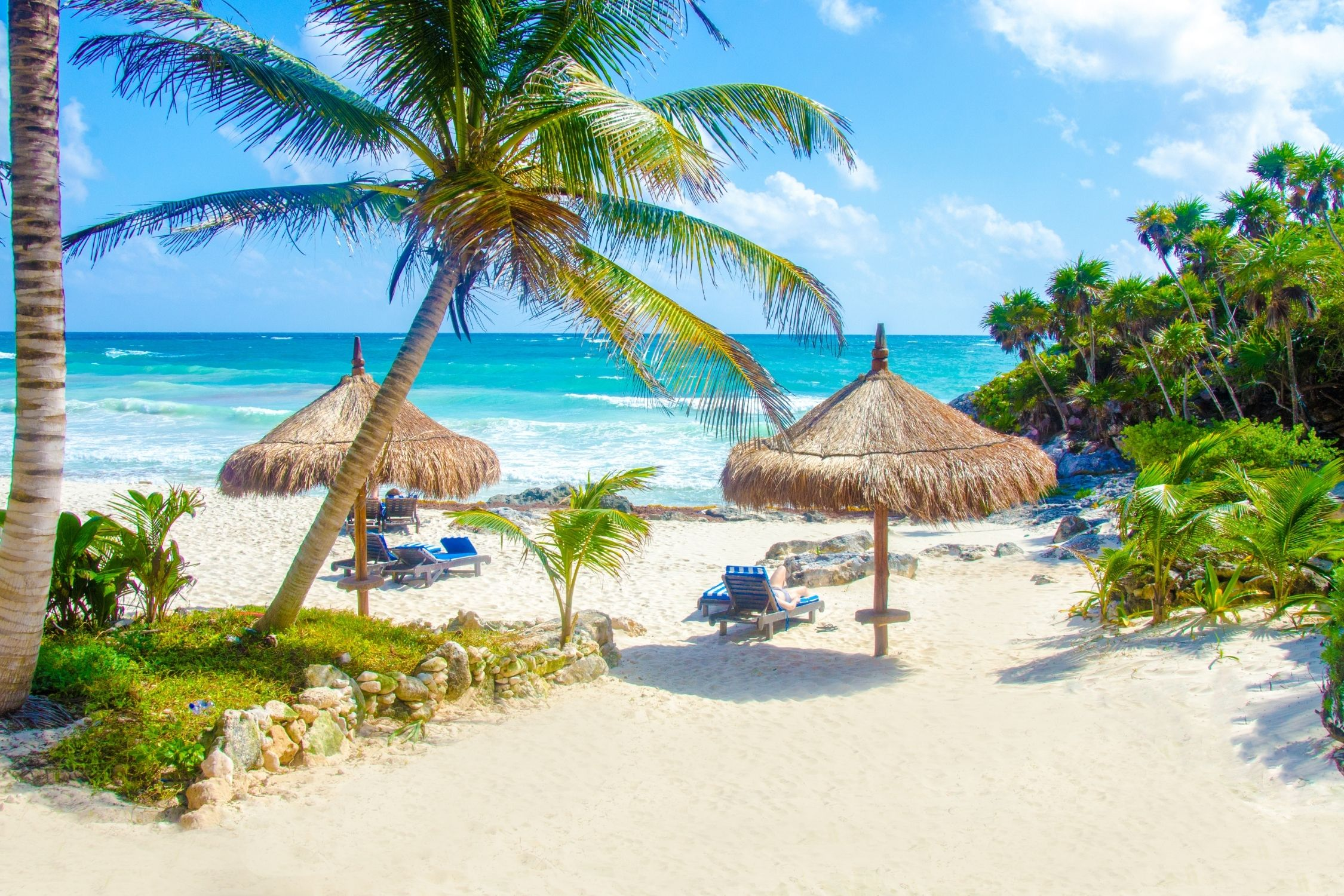 Weather in September in Tulum is perfect for lounging on the beach