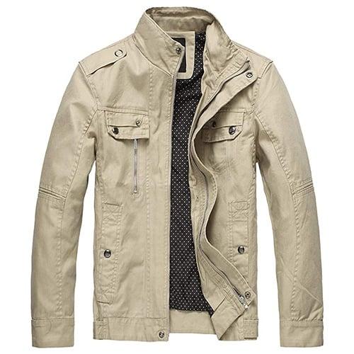 Wantdo Men's Cotton Safari Jacket