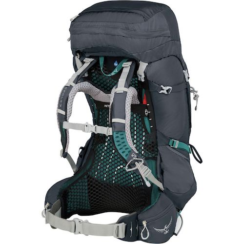 The Women's Osprey Aura Backpack Suspension System