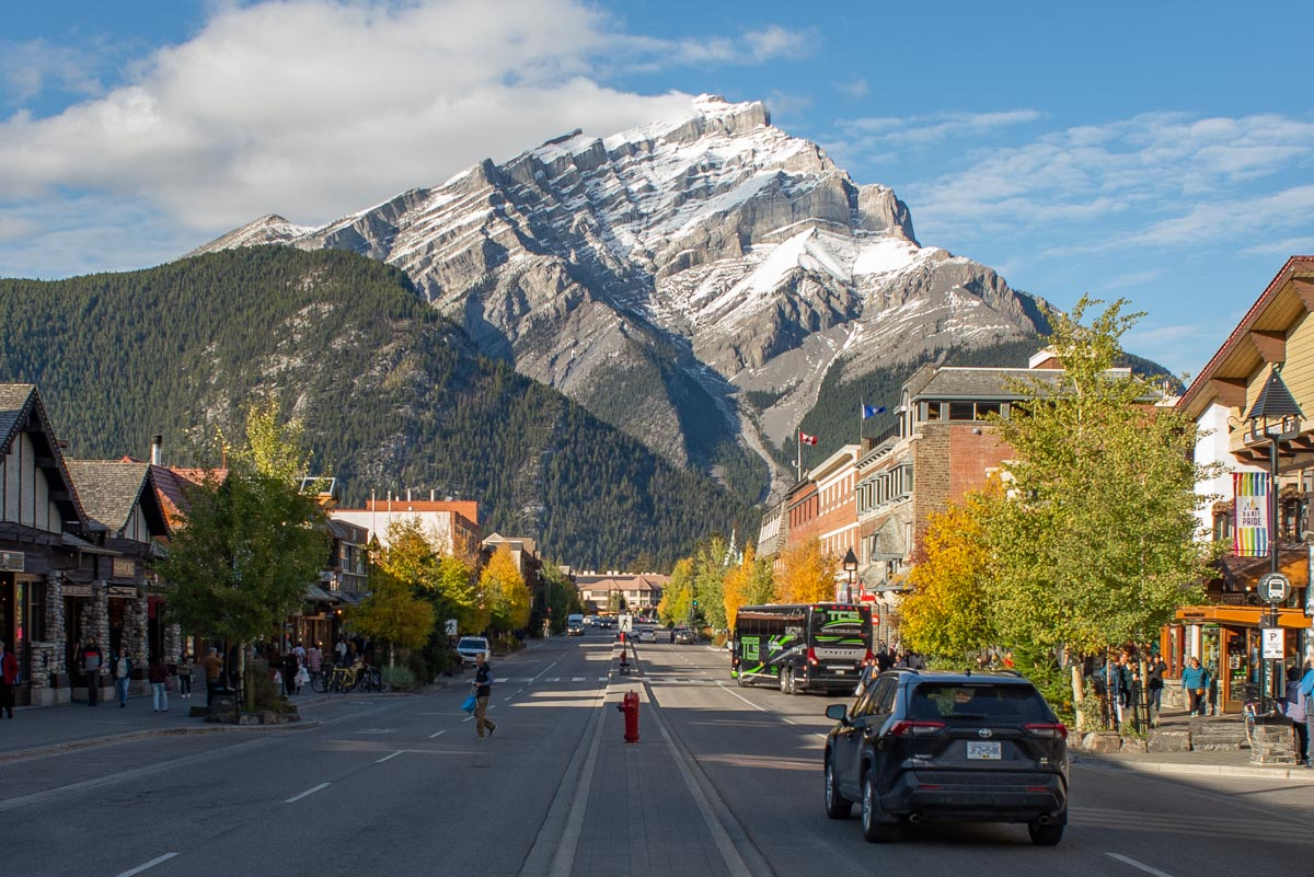 view from banff town