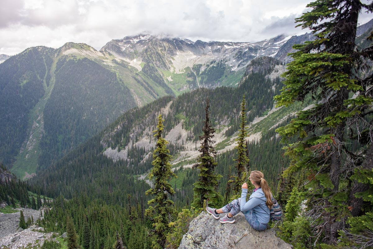 viewpoint from a hike in Revelstoke