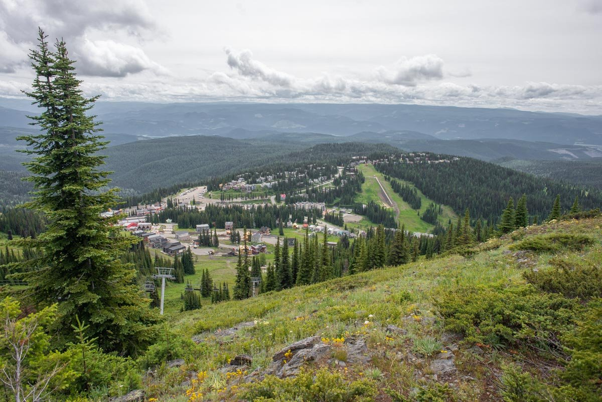 view from the top of Silver Star Mountain Resort in the summer