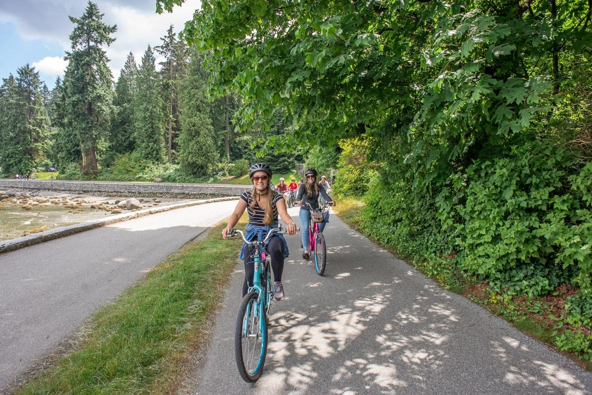 bicycle ride in Stanley Park
