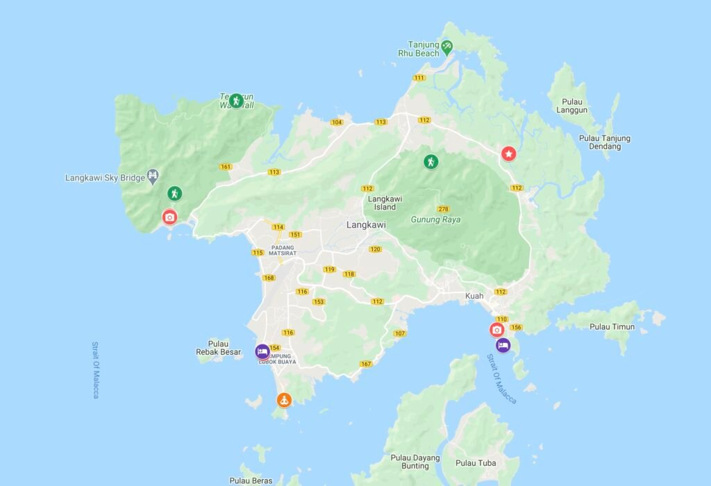 Best Things to do in Langkawi Map