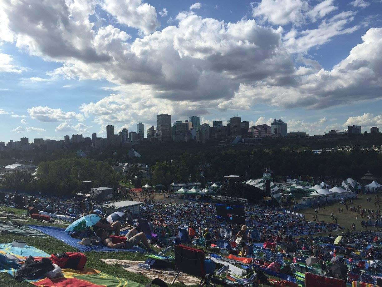 Edmonton folk festival in gallager park