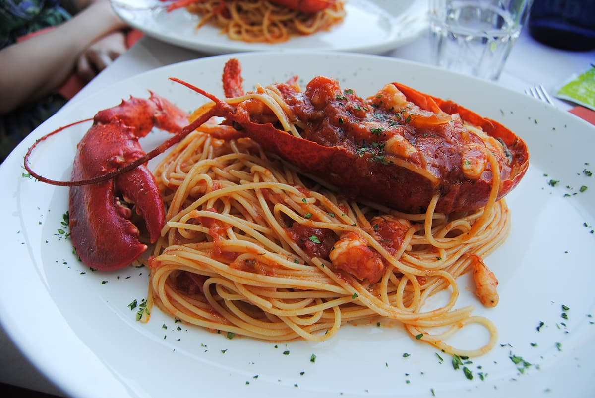 Pasta With Lobster in Rome, Italy