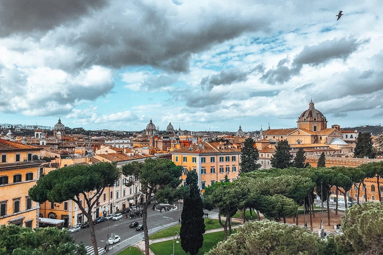 The View From the Terrace of Altare della Patria in Piazza Venezia in Rome, Italy